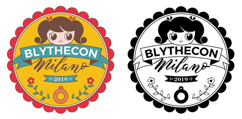 Logo Blithecon Milano 2019 colore e bianco/nero