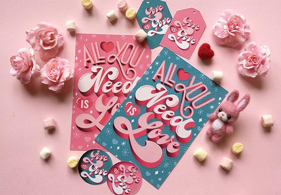 Cartoline e gift tag San Valentino